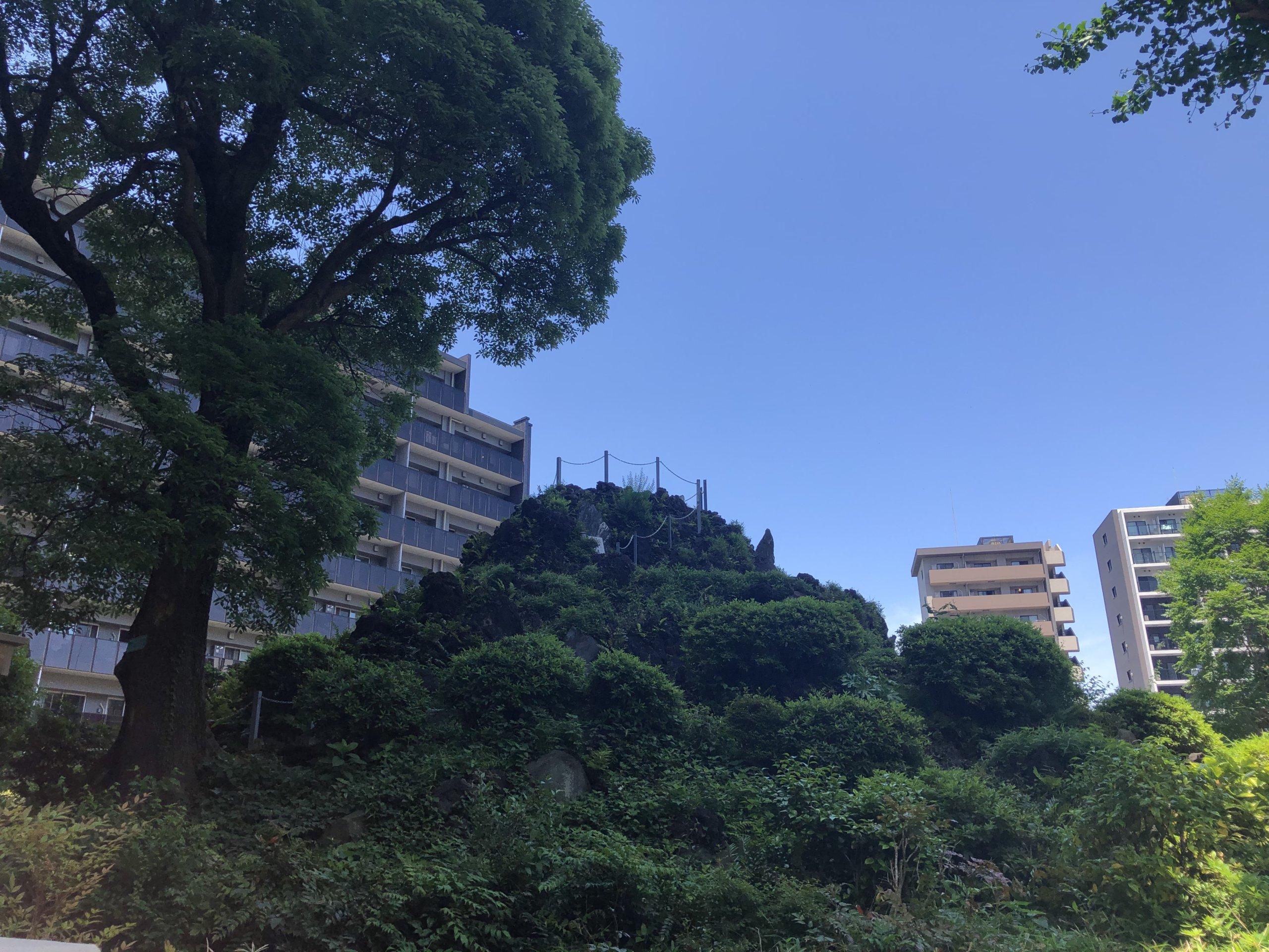 新宿の富士塚